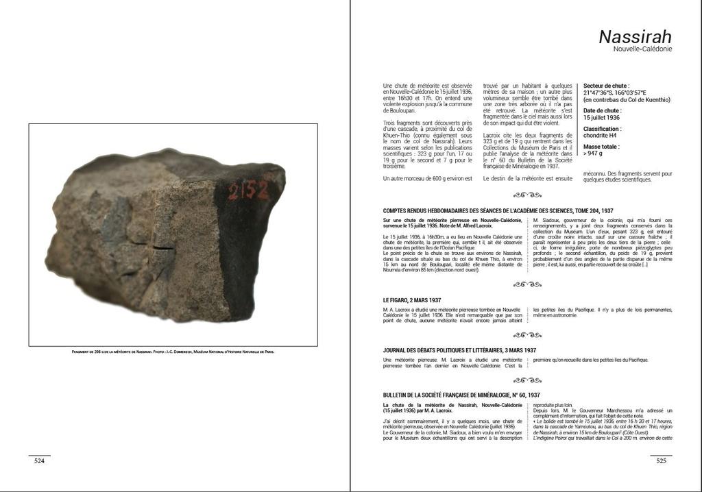 Encyclopédie des météorites françaises C310