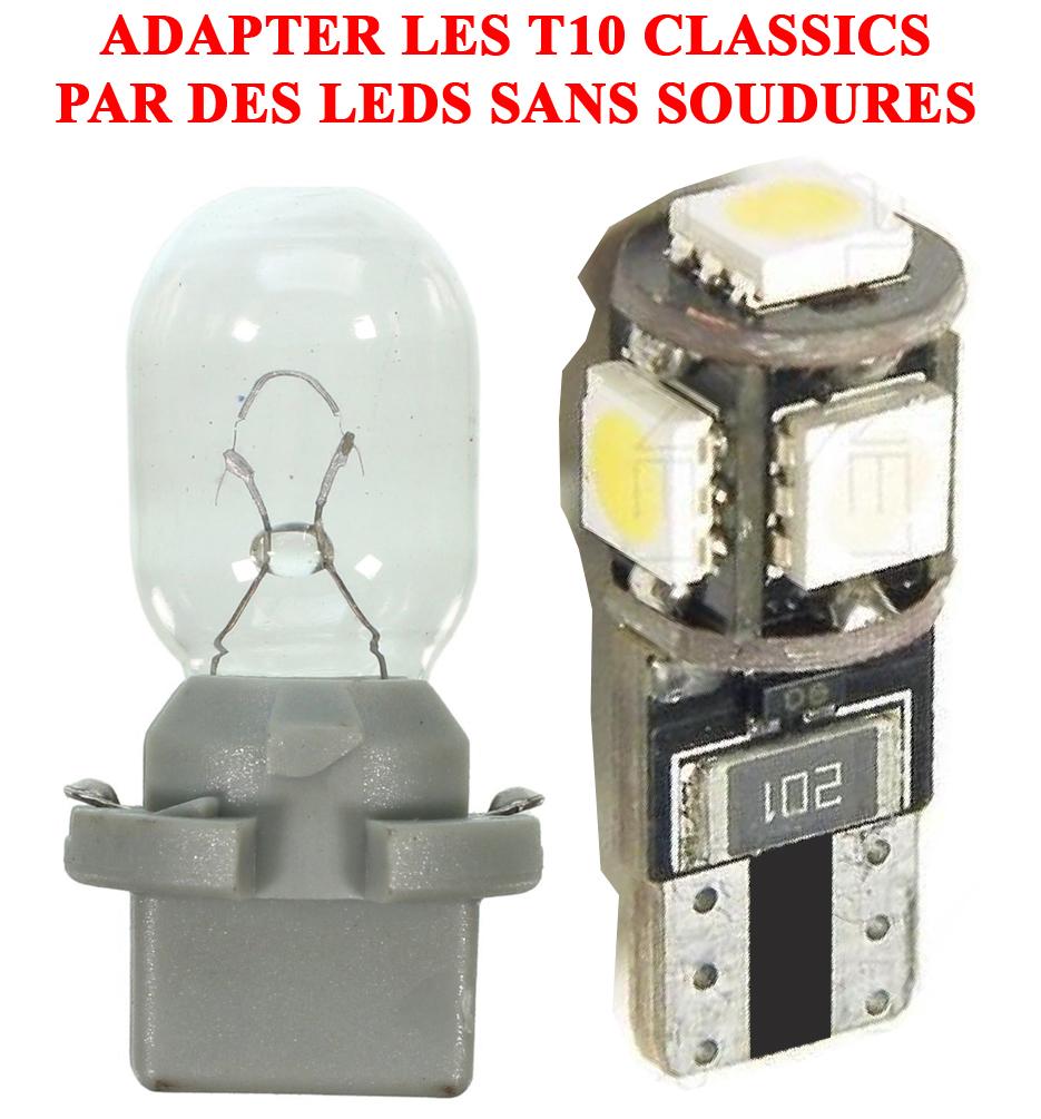 [TUTO OU ASTUCE] Remplacer les ampoules T10 de la console centrale par des LEDS T10led10
