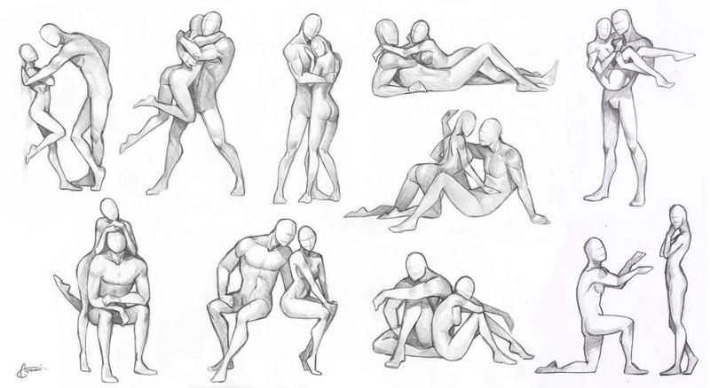 Idées de poses humaines Couple10
