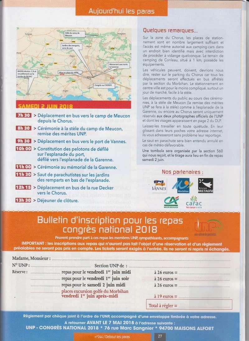 Proramme du congrès UNP des 1er et 2 juin 2018 à VANNES Numyri24