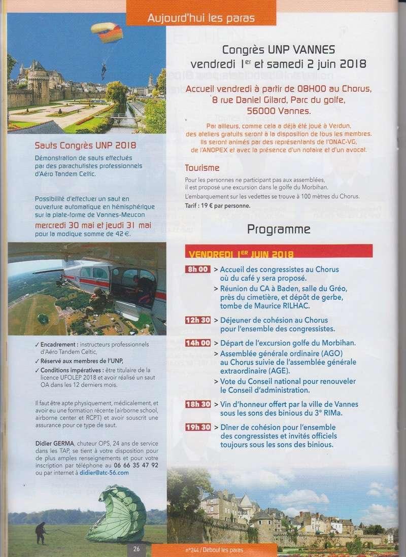 Proramme du congrès UNP des 1er et 2 juin 2018 à VANNES Numyri25