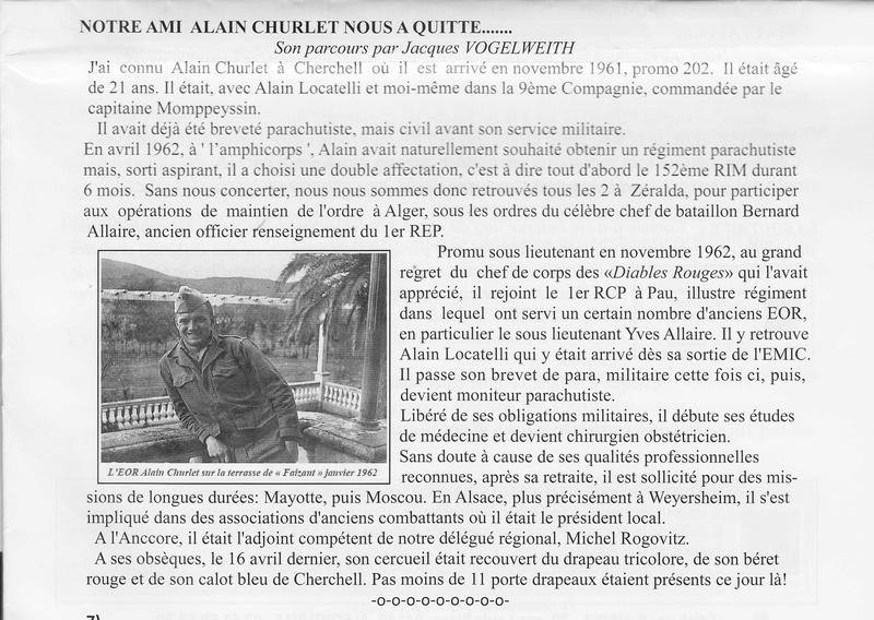 Alain CHURLET Cherchell 1er RCP  Sous-Lieutenant  Numyri28