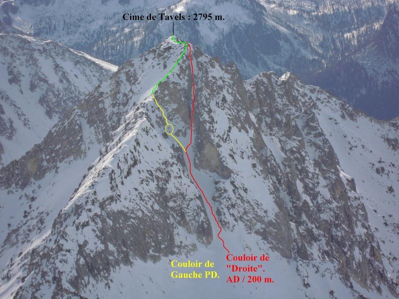 795 m au dessus d'Isola 2000. Tracer15