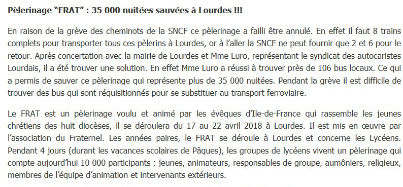 2018-04-17 / les autocaristes sauvent le pélerinage du FRAT. Frat-j10