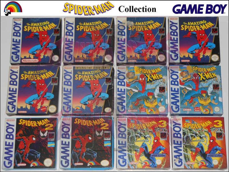1°) Présentation de tous les jeux GB JPN Spider10