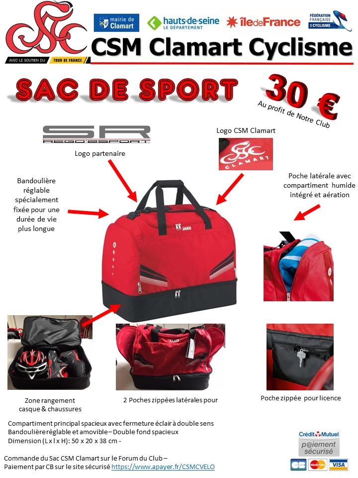 Sac de Sport CSM Clamart 2018 Prysen10