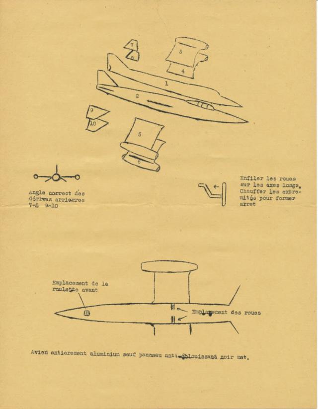 "SNCASO SO 9050 Trident II, maquette Ventax ""Ventavia"" en thermo-formé, décembre 1959 01-3_i10"
