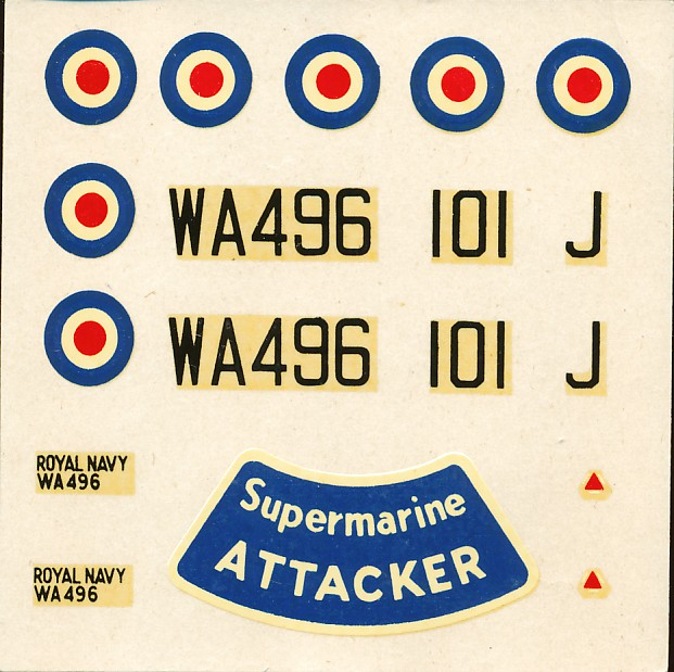 Supermarine Attacker, Frog, 1956, Ref.: 330P Attack12
