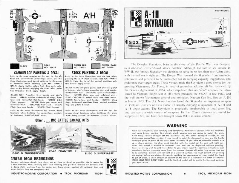 [IMC] DOUGLAS A-1H SKYRAIDER 1/72ème Réf 484 100 Dougla18