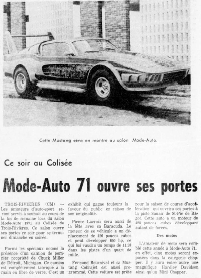 La Mustang 1967 modifié par Xavier Miron de Montréal Miron710
