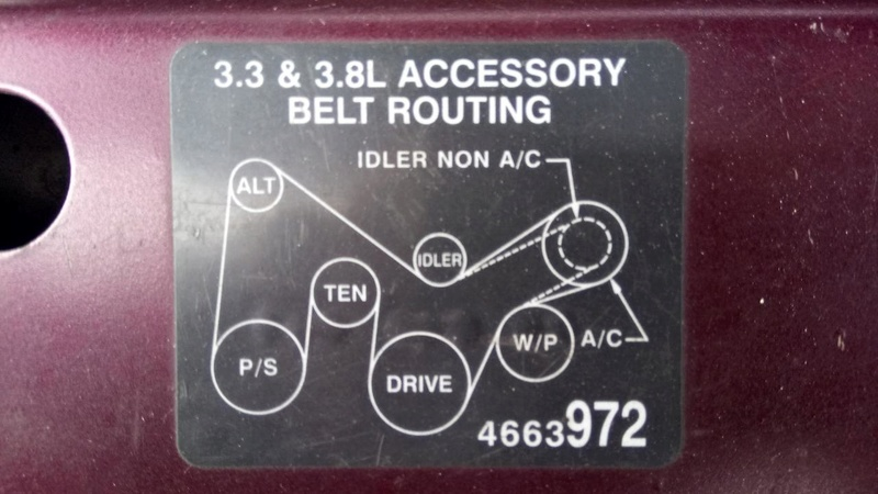 S3-3.3L de 98. Longueur courroie d'accessoire Dsc_0210