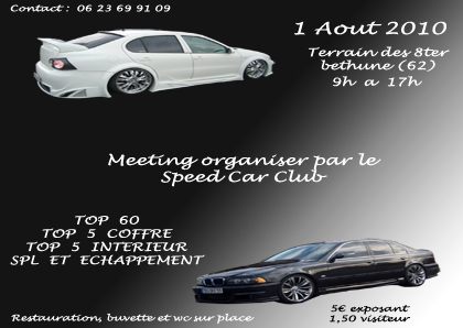 Meeting Speed Car Club ! Meetin12