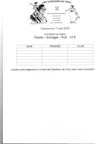Concour Camargue le 11 Avril 2010,organisé par Les Gardians de Crau Img00113