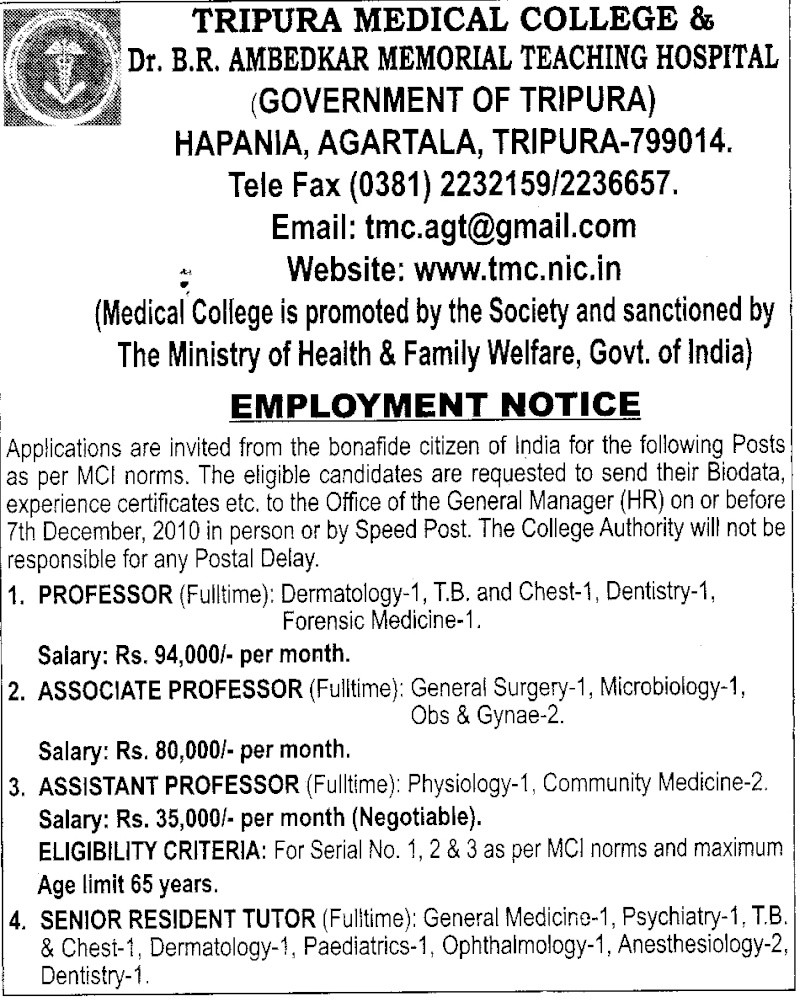 Physiology Assistant Professor - Tripura Scan11