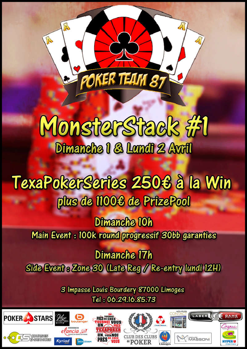 MonsterStack Poker Team 87 Ms_pt810