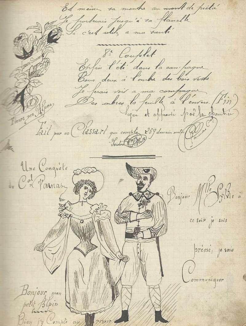 un cahier de chansons de 1897 du 30ème BACP 1897_c10
