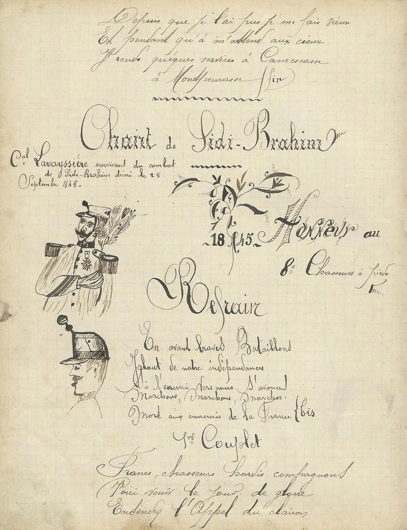 un cahier de chansons de 1897 du 30ème BACP 1897_c11