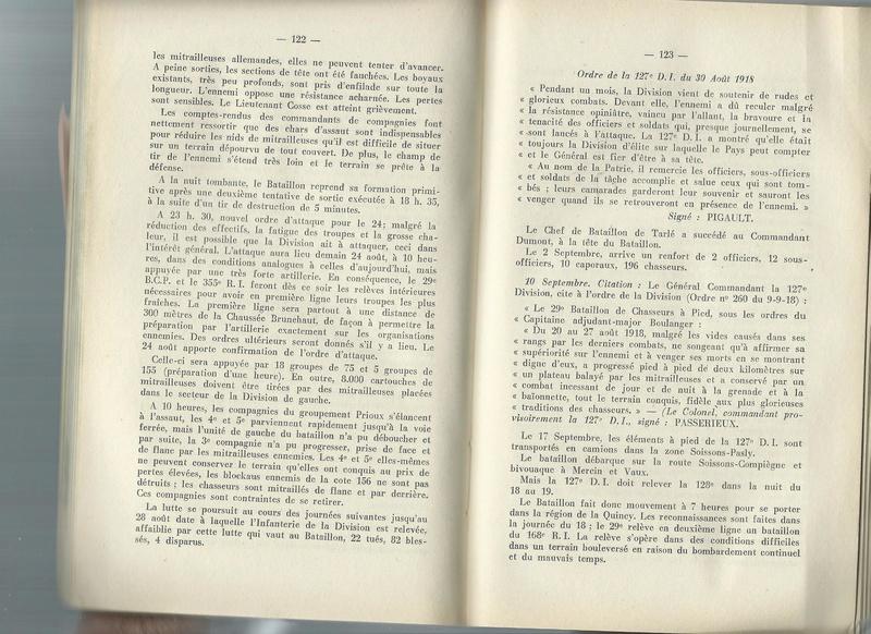 Combats du 29ème BCP en août 1918 29yme_10