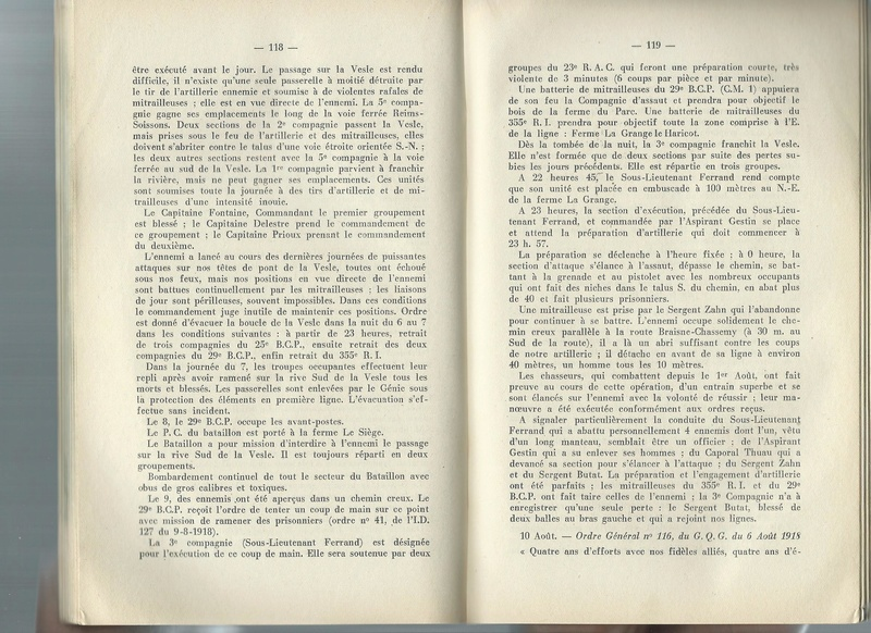 Combats du 29ème BCP en août 1918 29yme_12