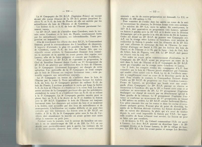 Combats du 29ème BCP en août 1918 29yme_17