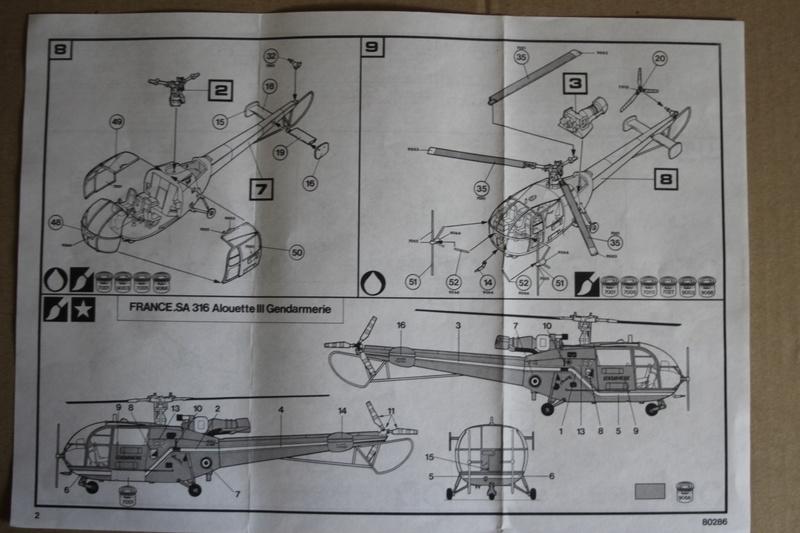 SA-316/319 Alouette III Heller 1/72, une évolution remarquable d'un très beau kit... Img_9114