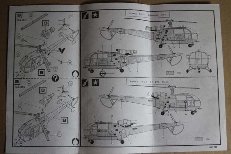 SA-316/319 Alouette III Heller 1/72, une évolution remarquable d'un très beau kit... Img_9115