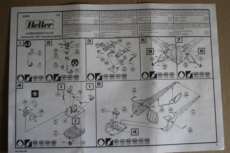 SA-316/319 Alouette III Heller 1/72, une évolution remarquable d'un très beau kit... Img_9121