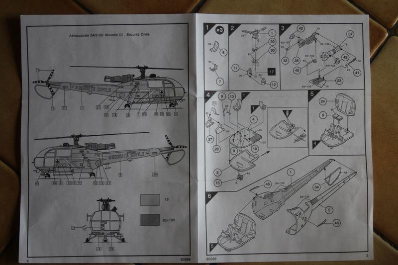 SA-316/319 Alouette III Heller 1/72, une évolution remarquable d'un très beau kit... Img_9131