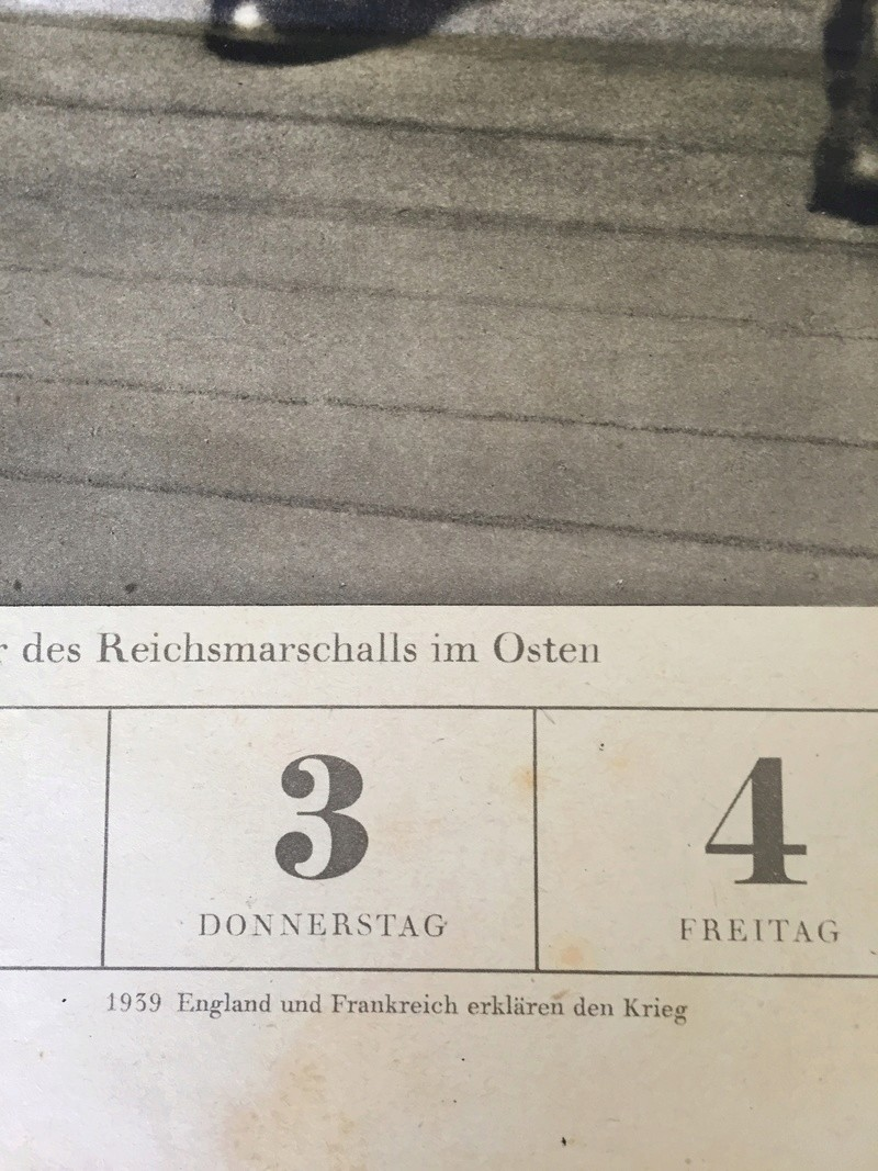 Calendrier allemand ww2  96dffe10