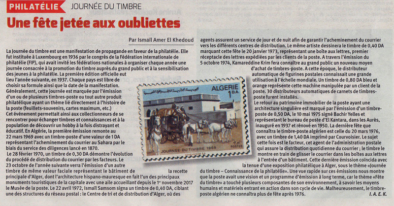 Journée du timbre : Une fête jetée aux oubliettes Articl10