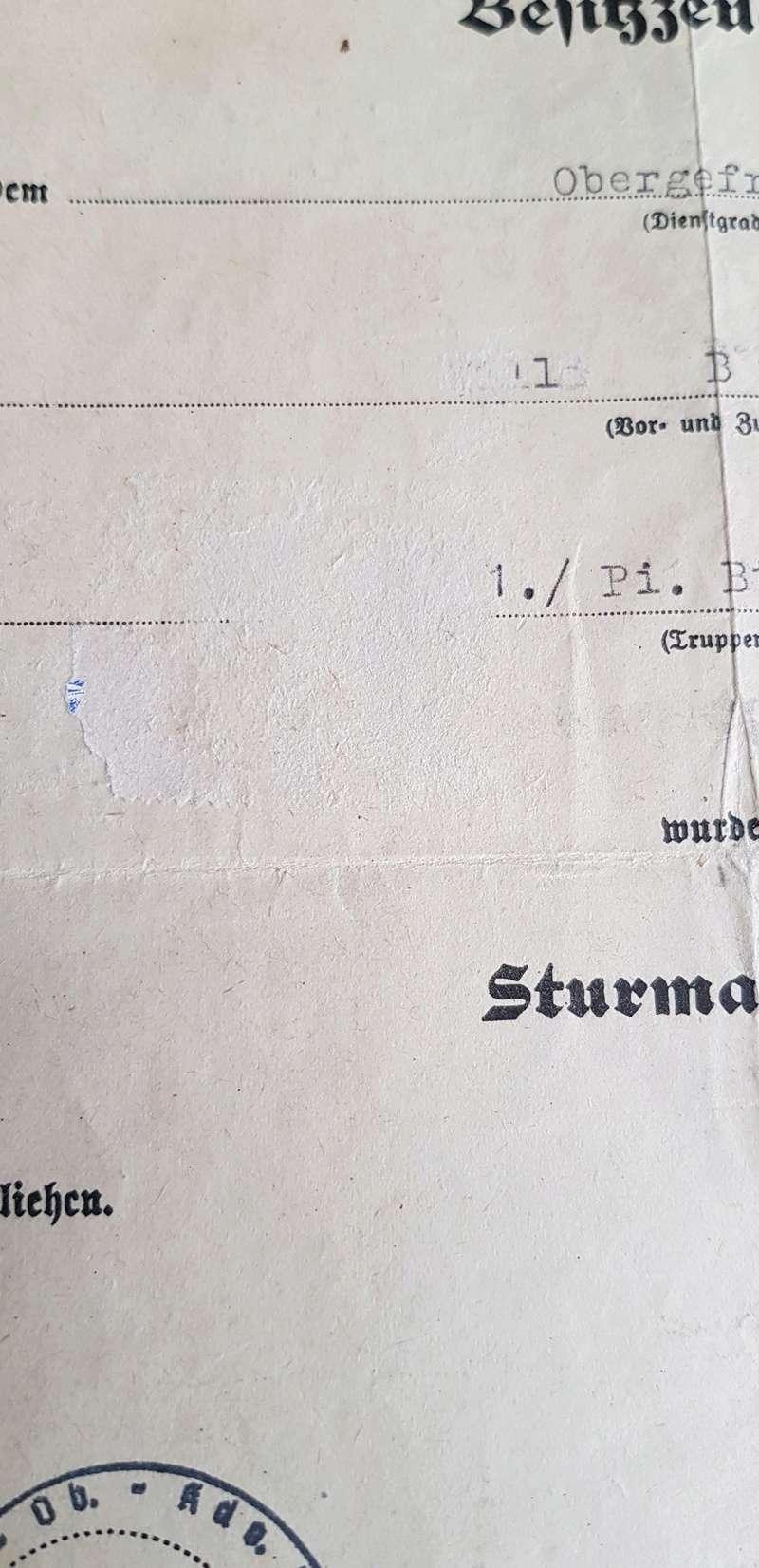 diplôme Sturmabzeichen (badge d'assaut général)+badge  2018-141