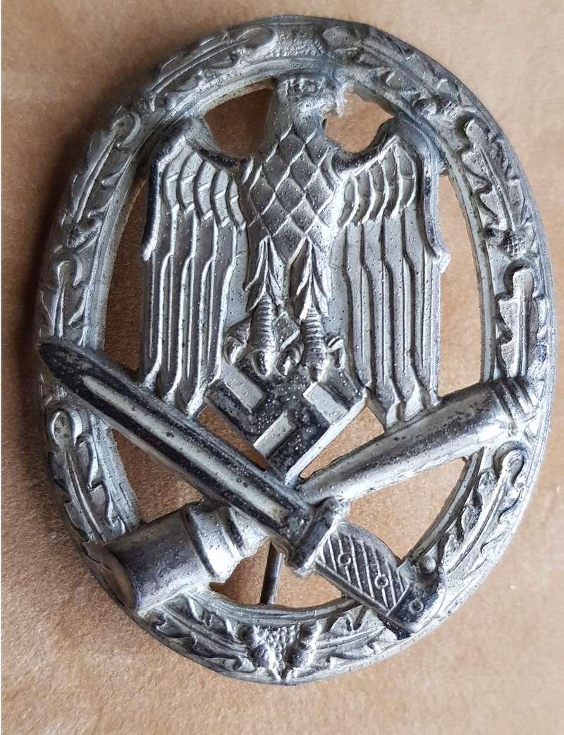 diplôme Sturmabzeichen (badge d'assaut général)+badge  2018-143