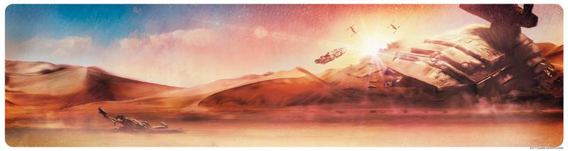 Artwork Star Wars - ACME - Dogfight at Sunset Swpplt10