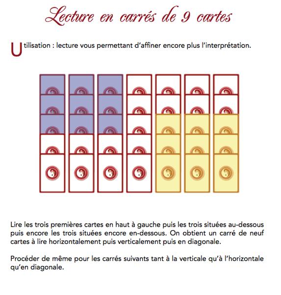 Lecture en carrés de 9 cartes avec le Grand jeu de Mademoiselle Agnes 80276810