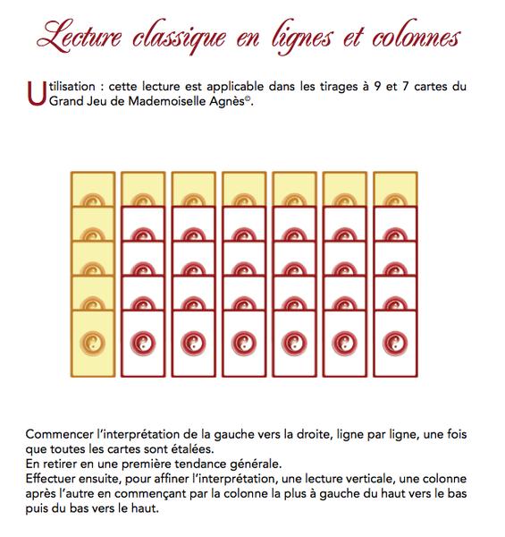 Lecture classique en lignes et colonnes avec le Grand jeu de Mademoiselle Agnès Lectur12