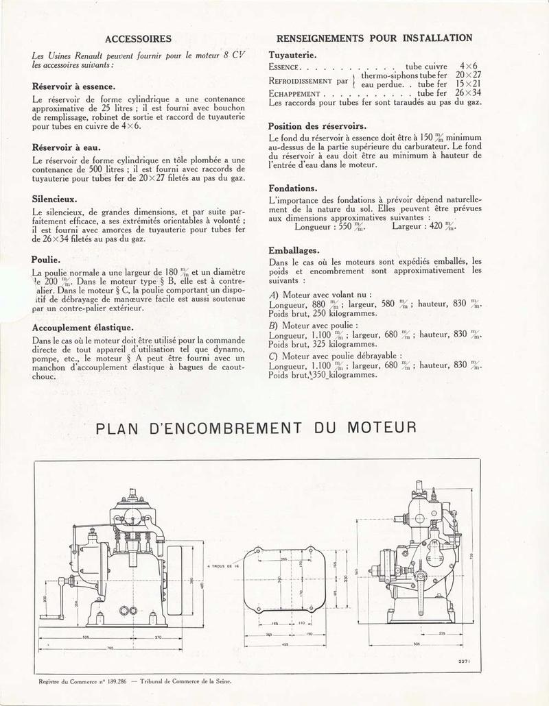 RENAULT - Moteur Renault 2 cylindre Type 93 30795910