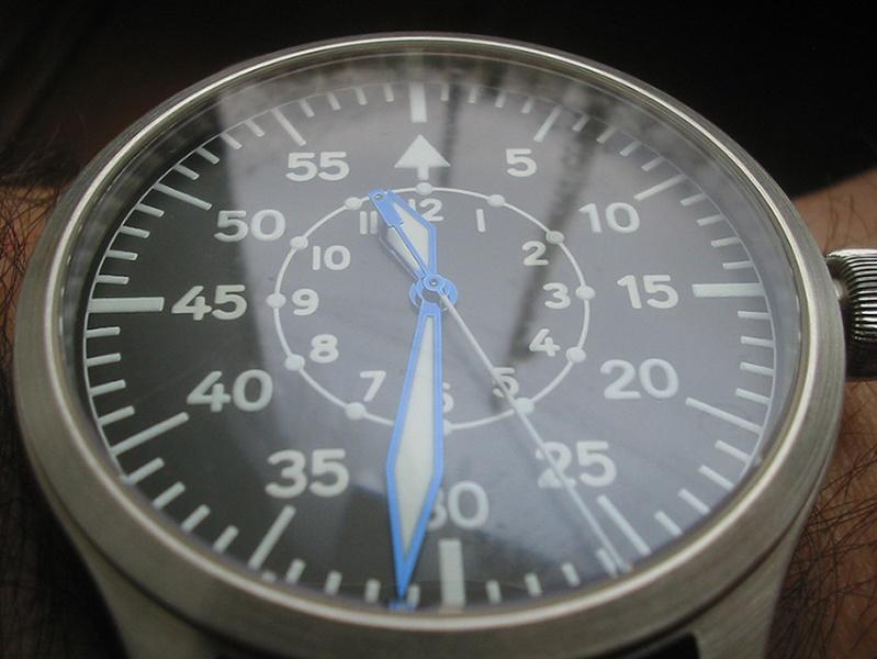 Feu de vos montres à aiguilles bleues Steinh12