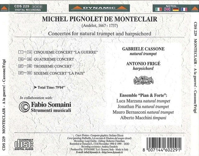 Michel Pignolet de Montéclair (1667-1737) Back20