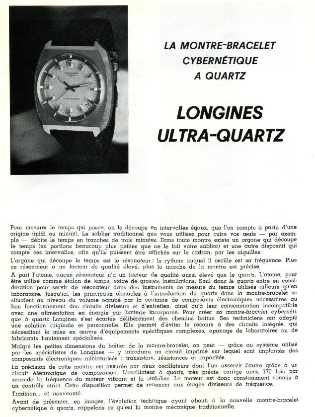 Longines Ultra-Quartz, les débuts du quartz... - Page 3 Longin10