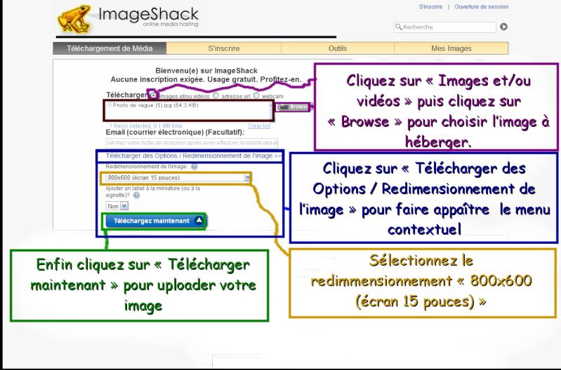 Comment insérer une image dans vos messages avec ImageShack Heberg11