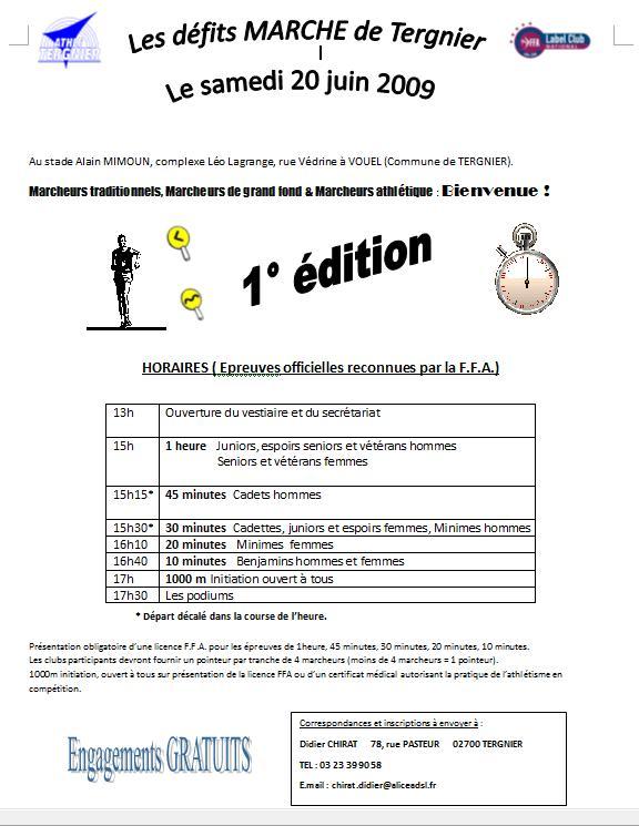 Les défits MARCHE de Tergnier (02), le 20 juin 2009 Compet10