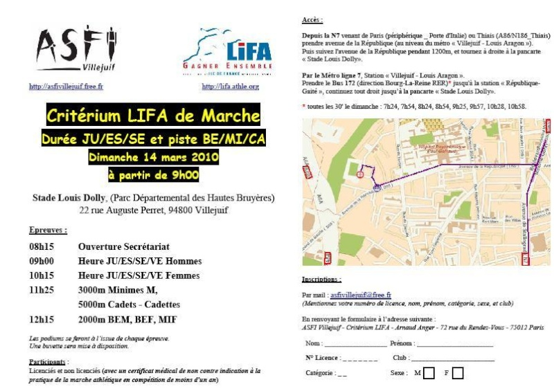 le 14 mars à villejuif 94 marche de durée Compet11