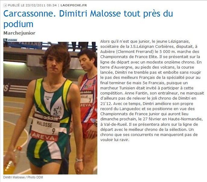 Journal et Portrait de dimitri MALOSSE par cybermarcheur Dimitr11