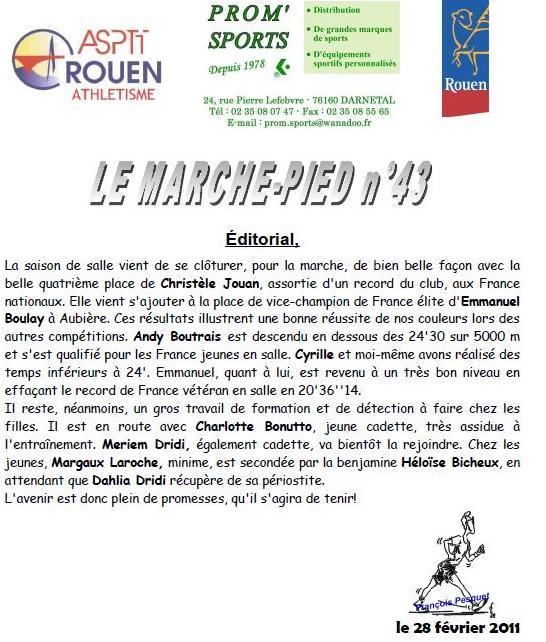 le journal de l'ASPTT ROUEN et F PESQUET Rouen_20