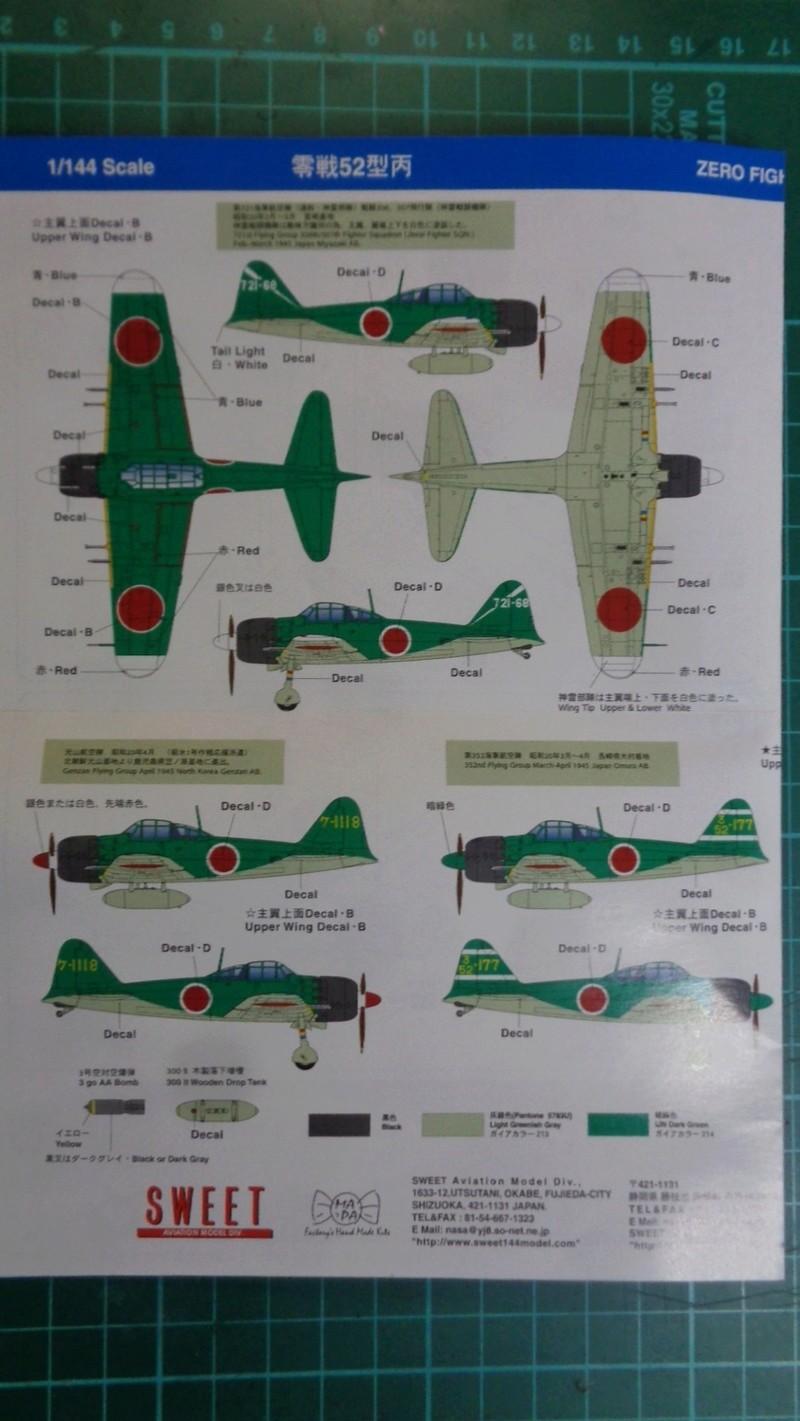Mitsubichi ZERO A6M5c Model 52 c SWEET 1/144 Dsc03614
