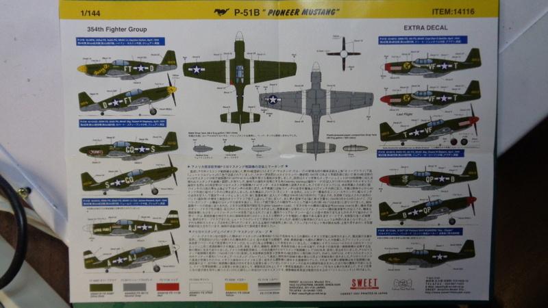 [SWEET] NORTH AMERICAN P 51 B MUSTANG 1/144ème Réf 14116 Dsc04024