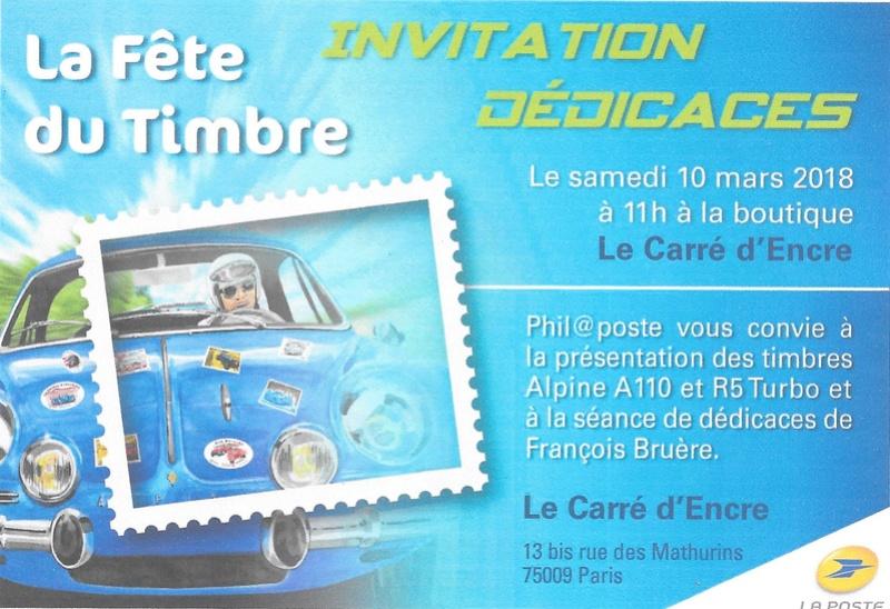 Fête du Timbre 2018 Le Carré d'Encre Paris et Rueil-Malmaison 92 (Hauts de Seine) samedi 10 mars 1_feit10