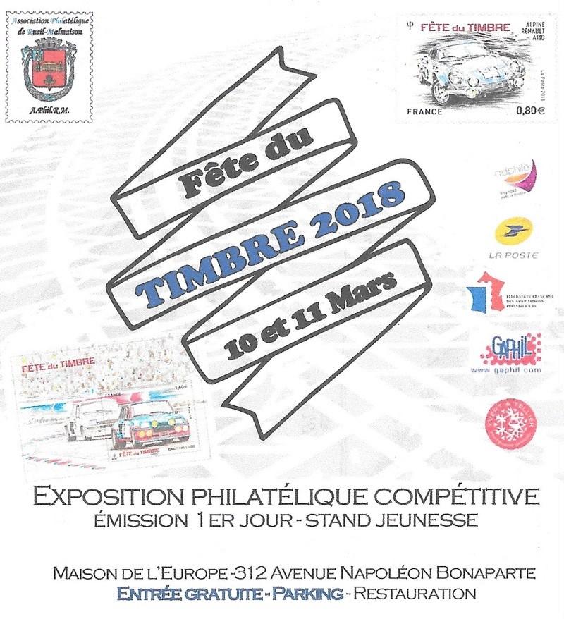 Fête du Timbre 2018 Le Carré d'Encre Paris et Rueil-Malmaison 92 (Hauts de Seine) samedi 10 mars 1_feit11