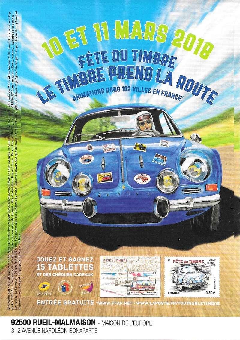 Fête du Timbre 2018 Le Carré d'Encre Paris et Rueil-Malmaison 92 (Hauts de Seine) samedi 10 mars 2_feit10