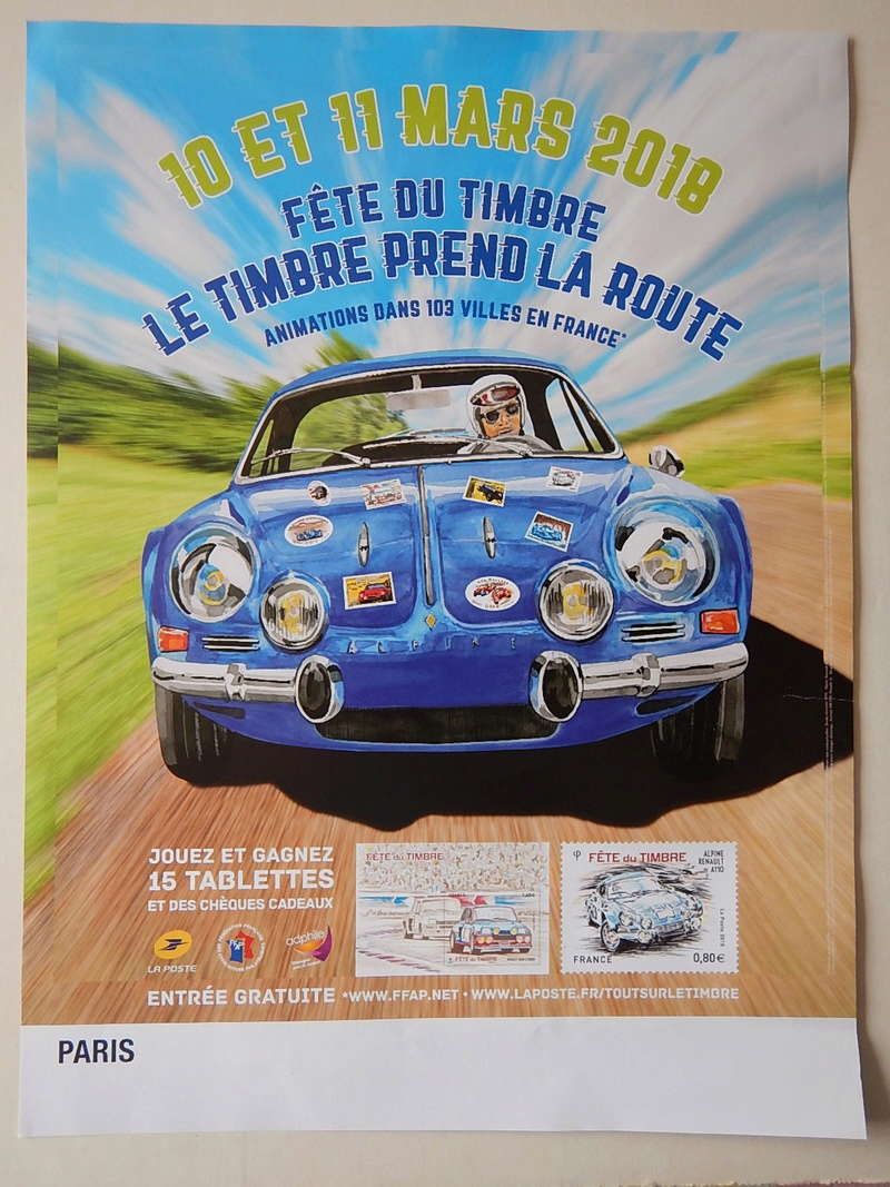 Fête du Timbre 2018 Le Carré d'Encre Paris et Rueil-Malmaison 92 (Hauts de Seine) samedi 10 mars Dscn5710